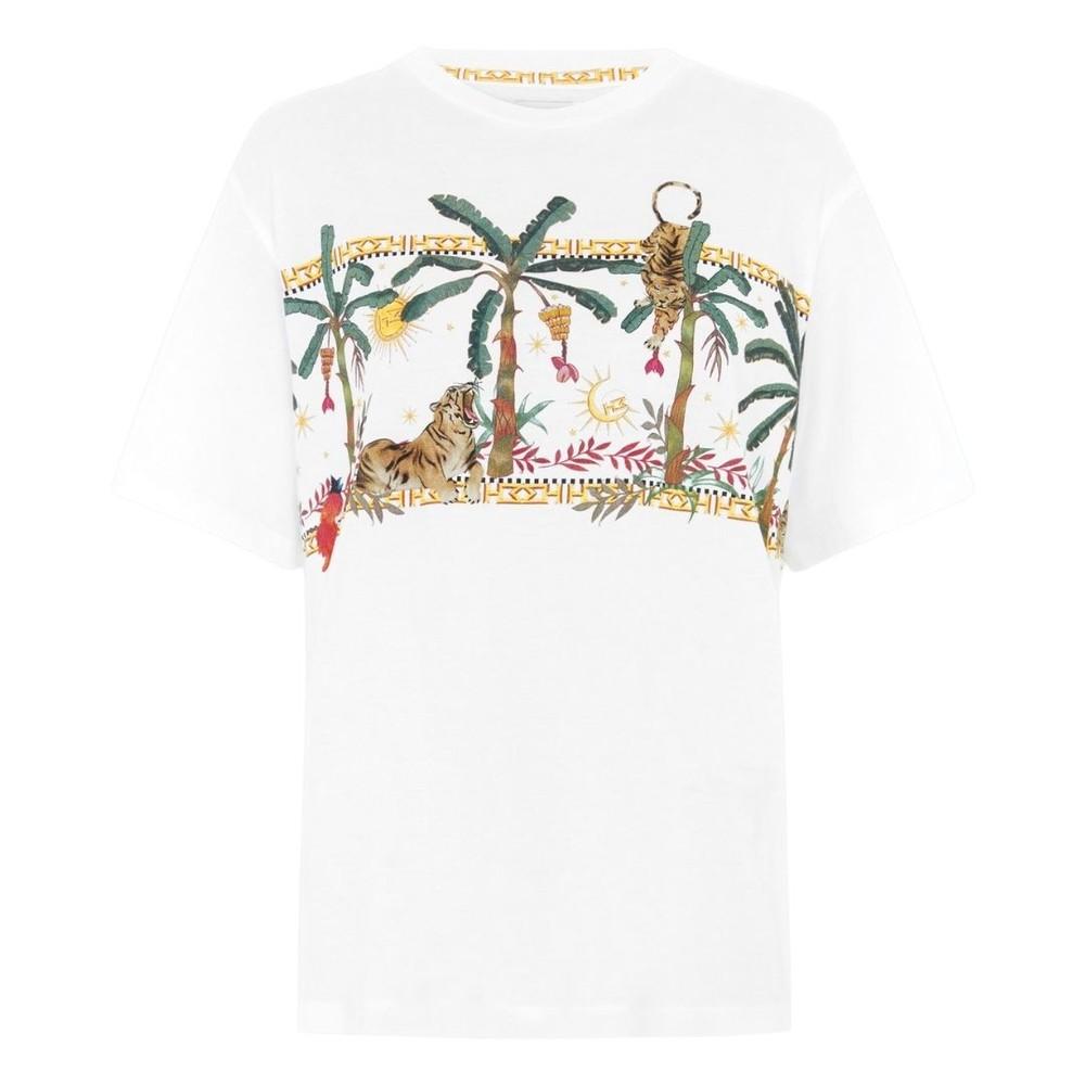 Hayley Menzies Jungle Safari Cotton T-Shirt White