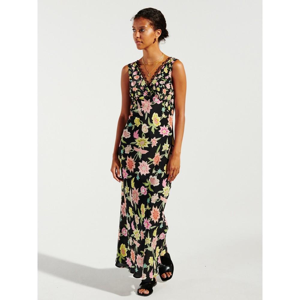 Hayley Menzies Dream In Colour Maxi Slip Dress Black