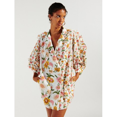 Hayley Menzies Daydream Broderie Tux Mini Dress