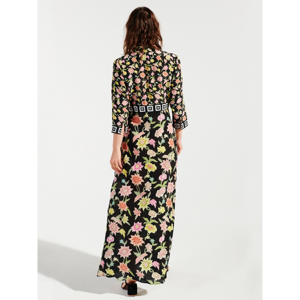 Hayley Menzies Dream In Colour Maxi Shirt Dress Black