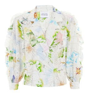Hayley Menzies  Paradise Found Broderie Tux Shirt
