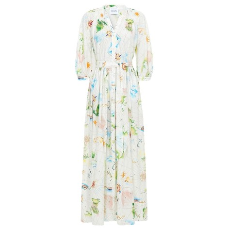 Hayley Menzies Paradise Found Midi Volume Shirt Dress