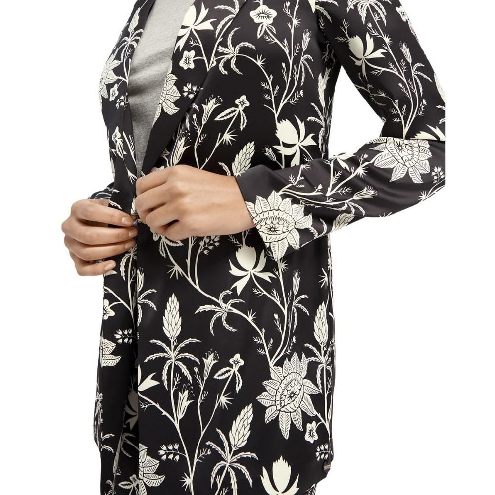 Scotch & Soda Printed Pyjama Blazer Black & White