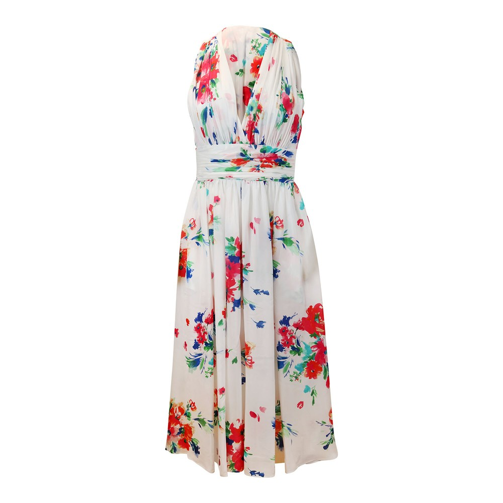 Moschino Boutique Floral Dress White