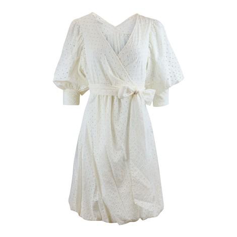 DVF Ulrica Eyelet Cotton Wrap Dress