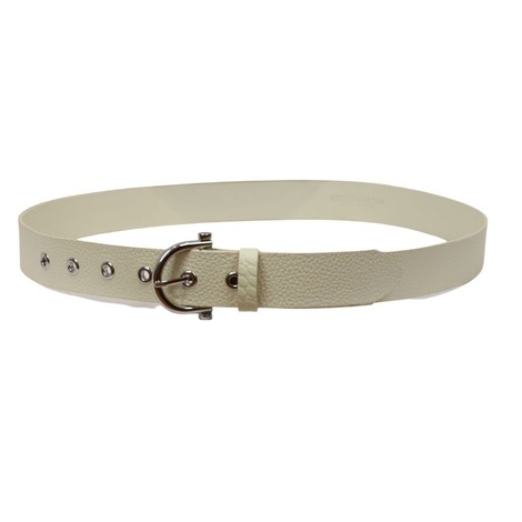 Scotch & Soda Leather Belt in Cream