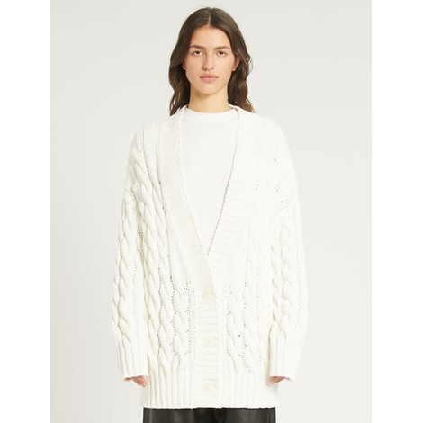 Sportmax Ode Cable Knit Cardigan