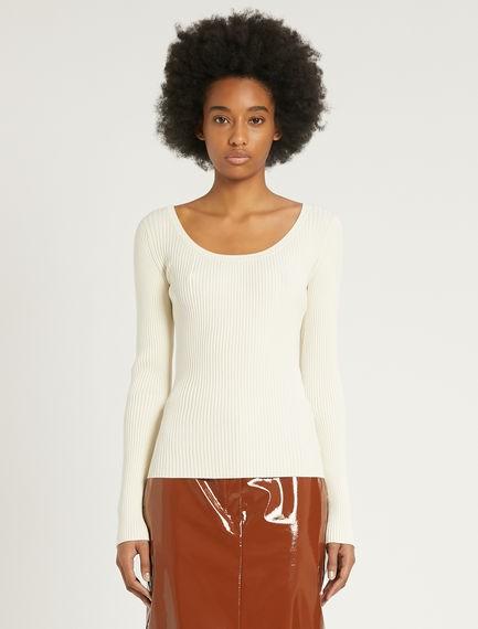 Sportmax Artello Knit Top Off White