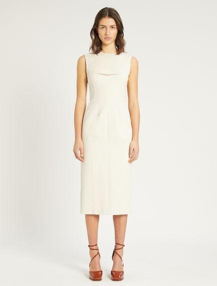 Sportmax Razza Sleeveless Snail Dress Cream