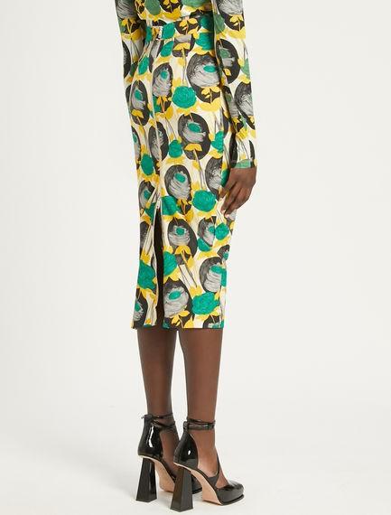 Sportmax Tamaro Floral Print Skirt Multi