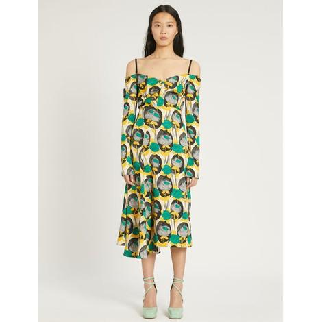 Sportmax Colomba Long Sleeve Print Dress