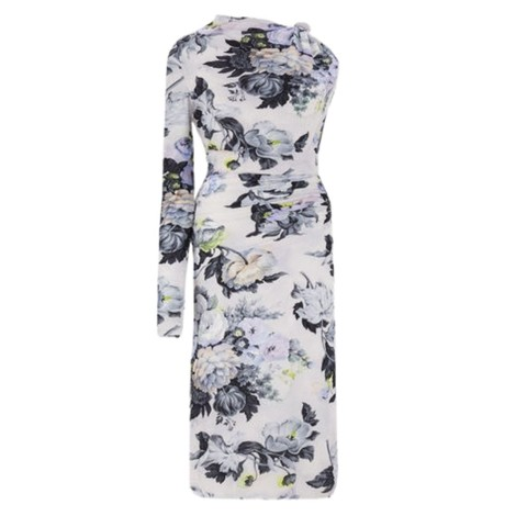 Sportmax Cenere Single Sleeve Dress