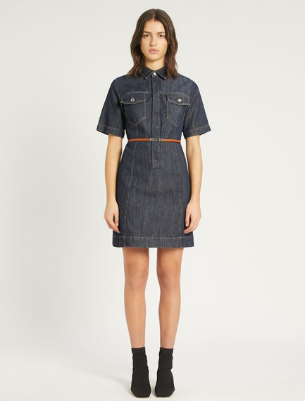 Sportmax Teglia Short Sleeve Denim Dress Denim