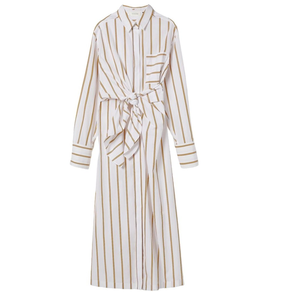 Sportmax Aretusa Striped Shirt Dress White