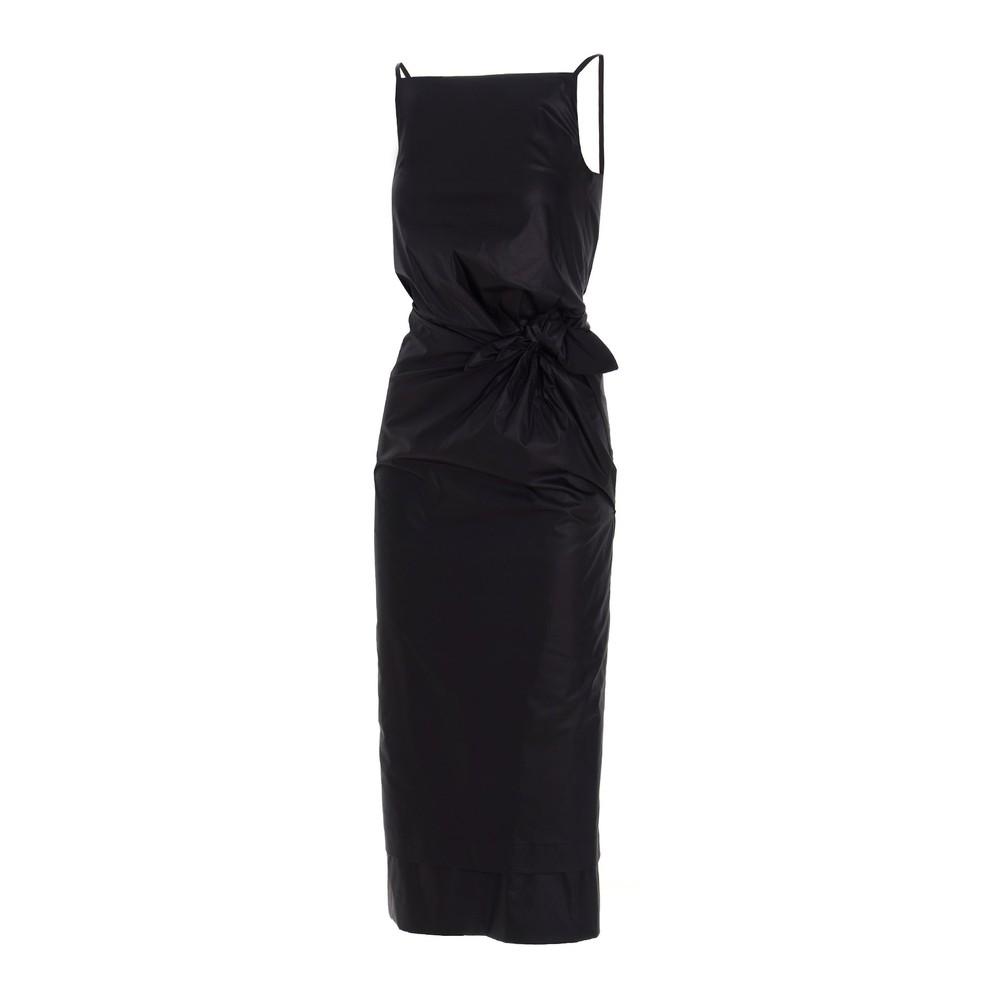 Sportmax Napoli Cotton Fitted Dress Black