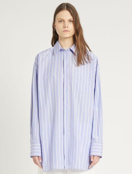 Sportmax Otranto Cotton Striped Shirt Blue