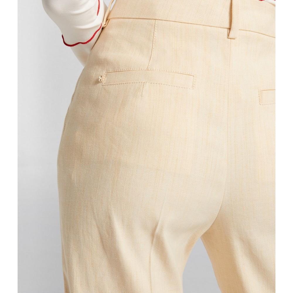 Sportmax Damara Linen Trousers Camel