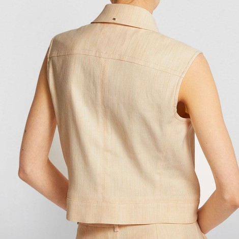 Sportmax Rane Linen Sleeveless Jacket