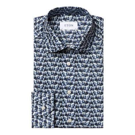 Eton Vase Print Slim Fit Shirt