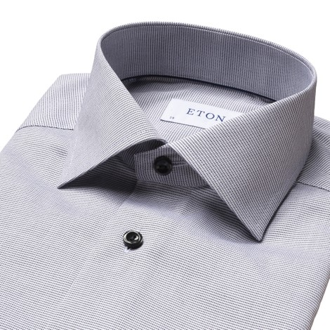 Eton Textured Slim Fit Twill Shirt