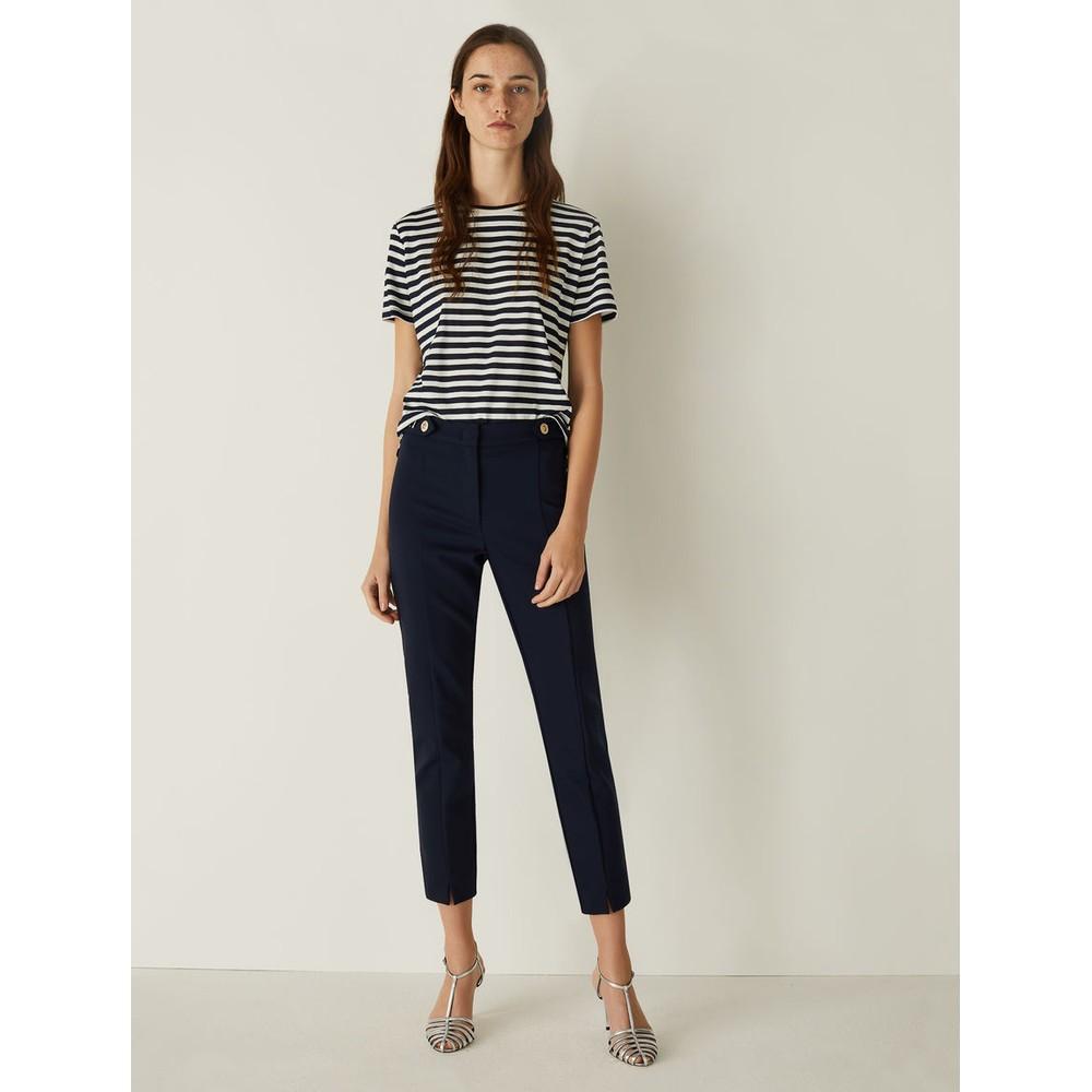 Marella Barni Cotton Trousers Navy