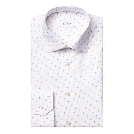 Eton Cocktail Print Poplin Shirt