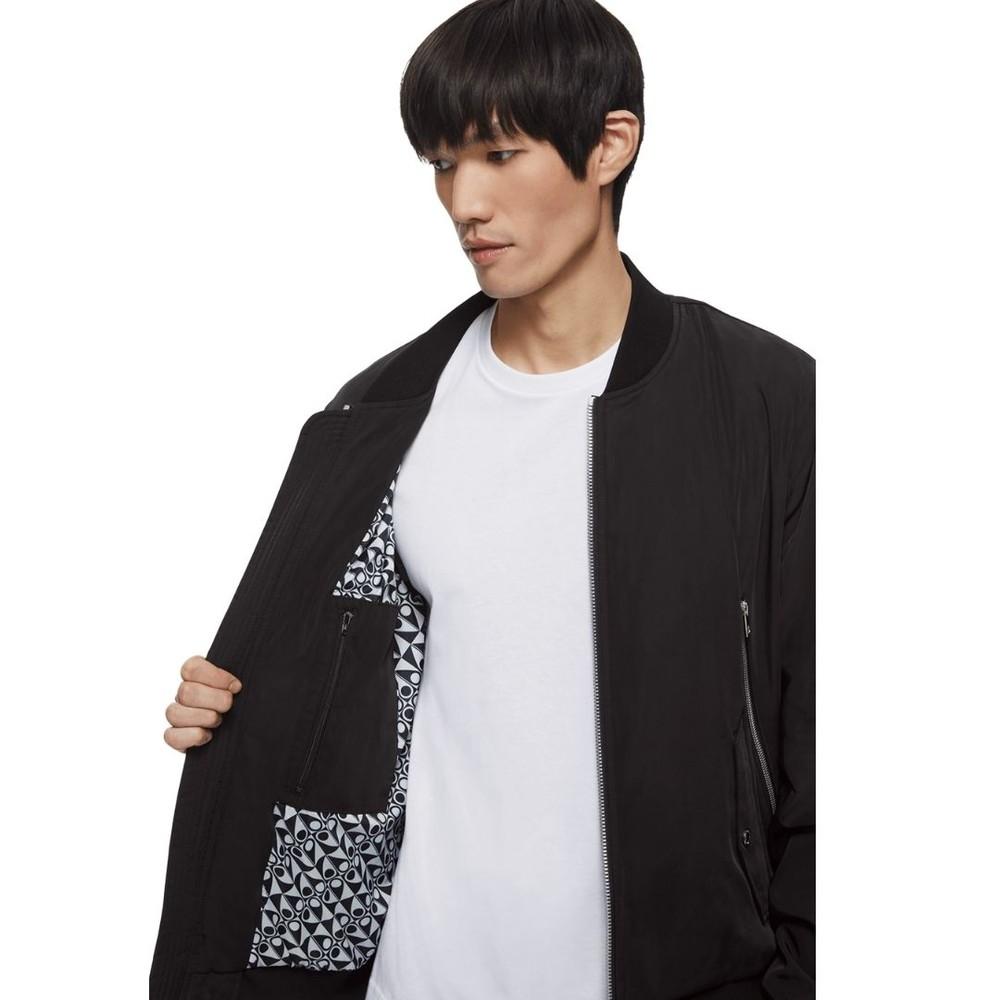 Moose Knuckles Box Car Bomber Jacket Black