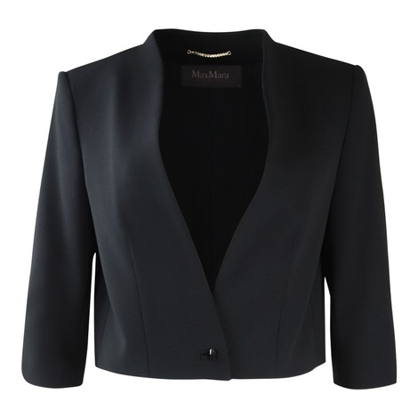 Maxmara Black Short 3/4 Sleeve Jacket