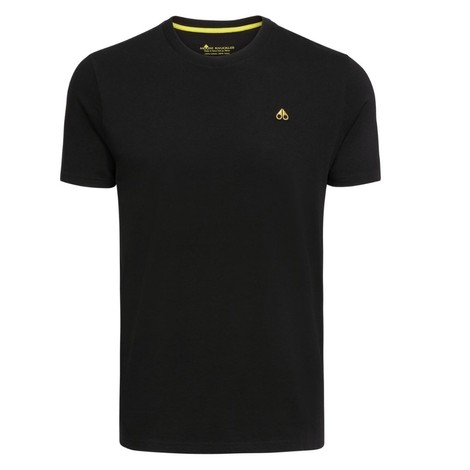 Moose Knuckles Classic Logo T-Shirt in Black