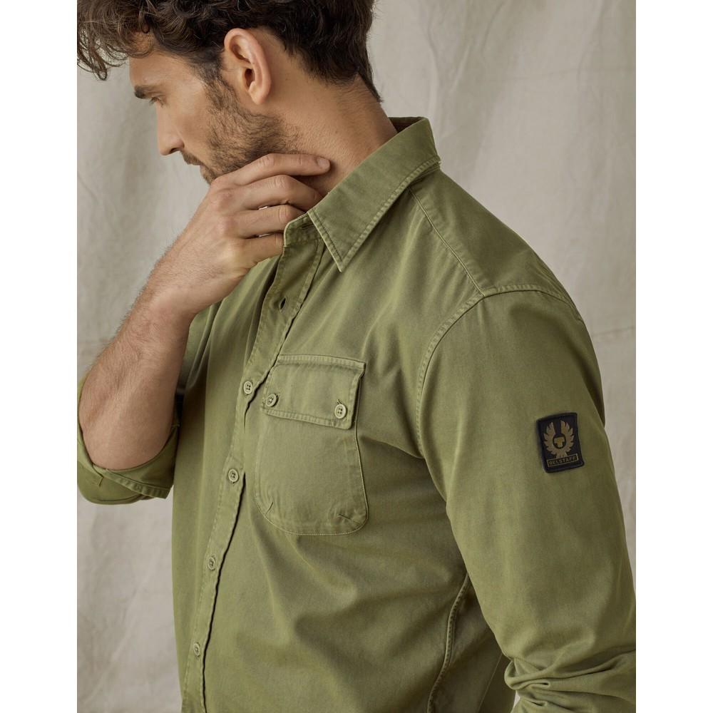 Belstaff Pitch Shirt Army Green