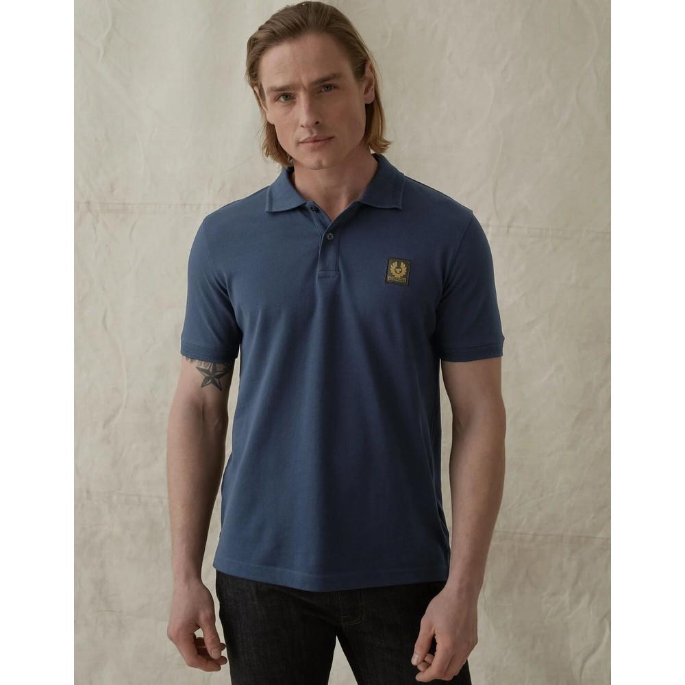 Belstaff Short Sleeved Polo Dark Blue