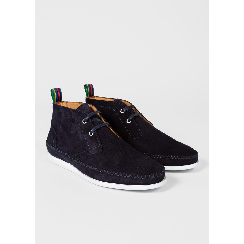 PS Paul Smith Neon Suede Boots Navy