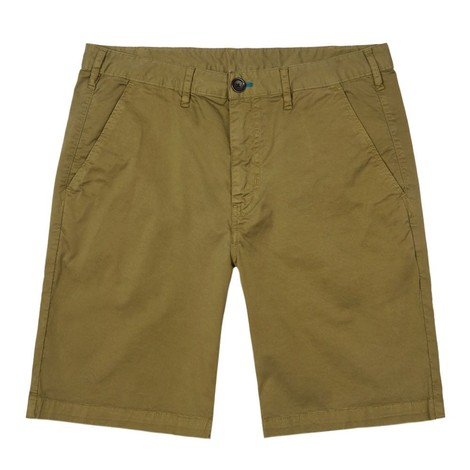 PS Paul Smith Stretch Pima-Cotton Chino Shorts in Olive