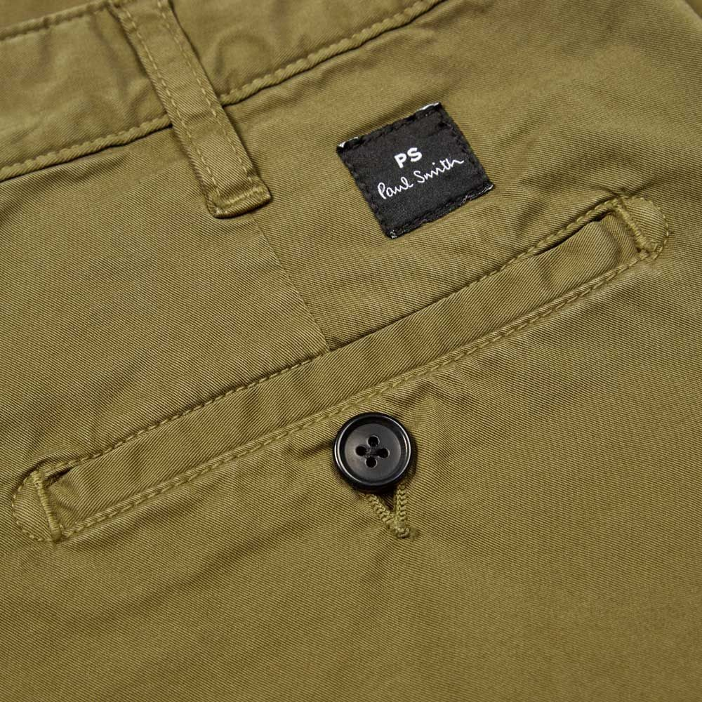 PS Paul Smith Stretch Pima-Cotton Chino Shorts Olive