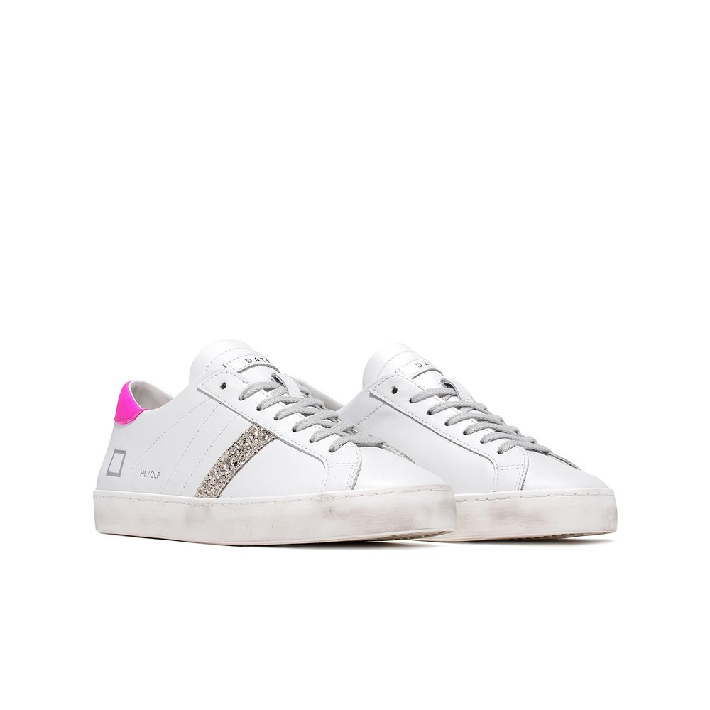 D.A.T.E. Hill Low Calf Trainers White