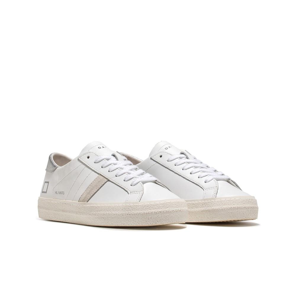 D.A.T.E. Hill Low Vintage Calf Trainers White