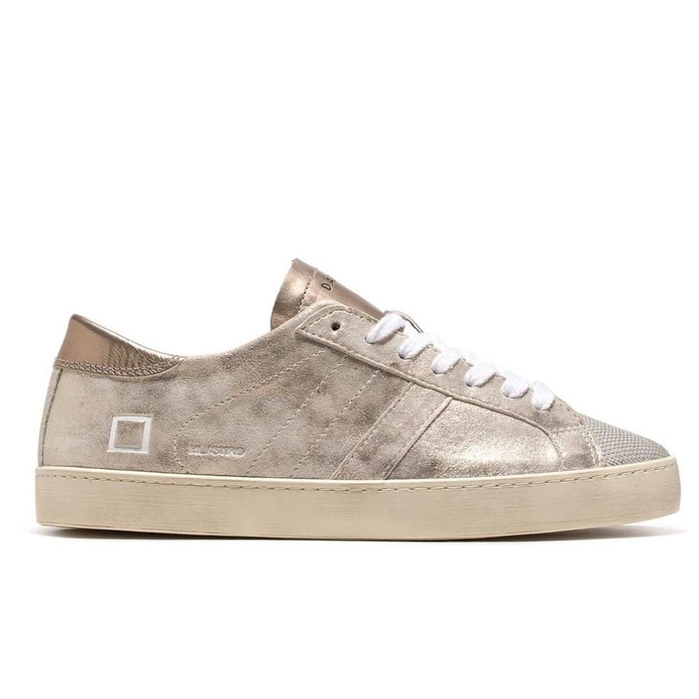 D.A.T.E. Hill Low Stardust Trainers Silver