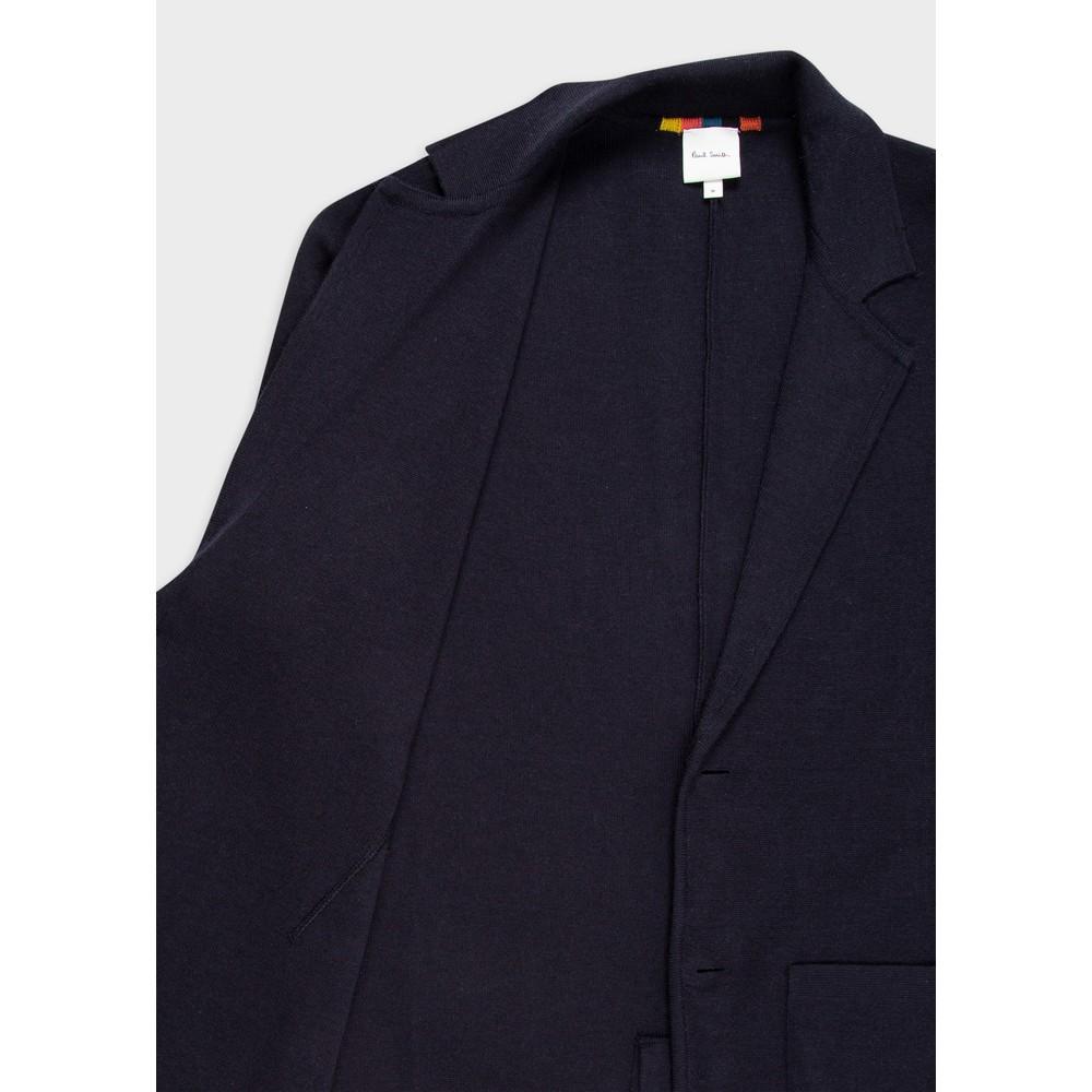 Paul Smith Merino Wool Cardigan Blazer Dark Navy