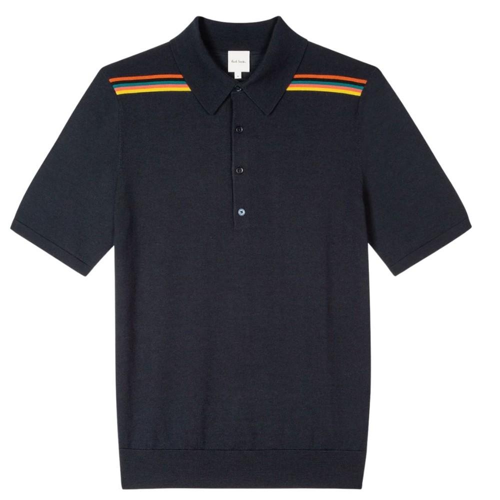 Paul Smith 'Artist Stripe' Polo Shirt Dark Navy