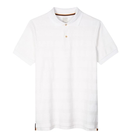 Paul Smith Cotton-Towelling Stripe Polo Shirt in White
