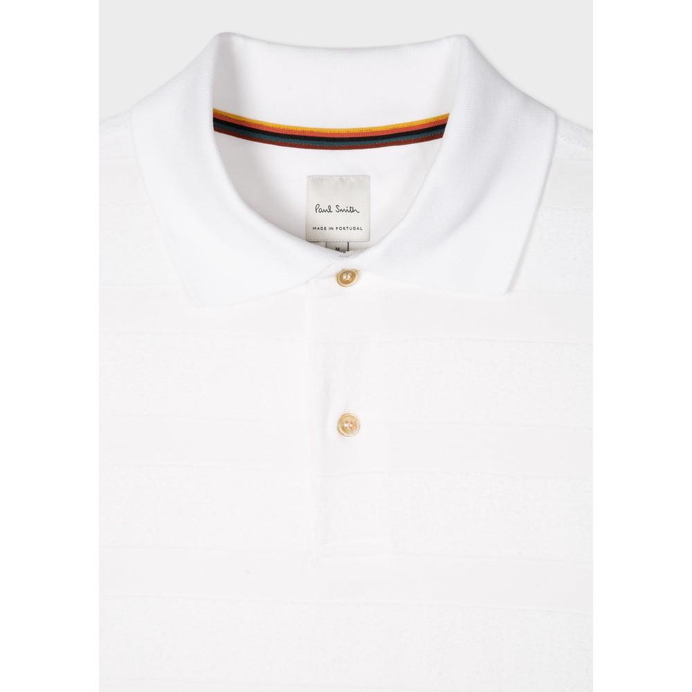 Paul Smith Cotton-Towelling Stripe Polo Shirt White