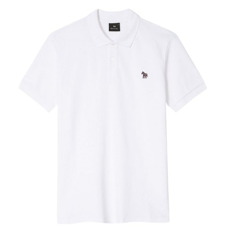 PS Paul Smith Organic Cotton-Piqué Zebra Logo Polo Shirt