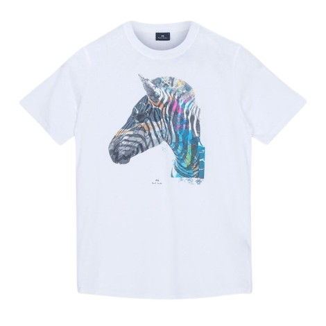 PS Paul Smith 'Graffiti Zebra' Print Organic Cotton T-Shirt