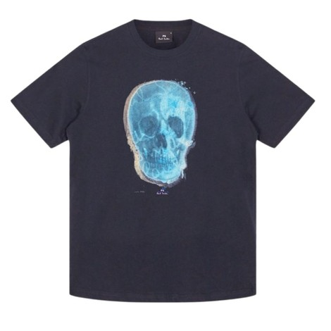 PS Paul Smith Blue Skull Organic Cotton T-Shirt