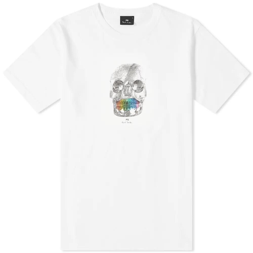 PS Paul Smith Organic Cotton Skull T-Shirt White
