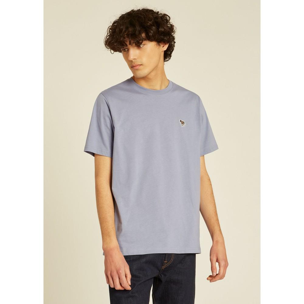 PS Paul Smith Organic-Cotton Zebra Logo T-Shirt Blue