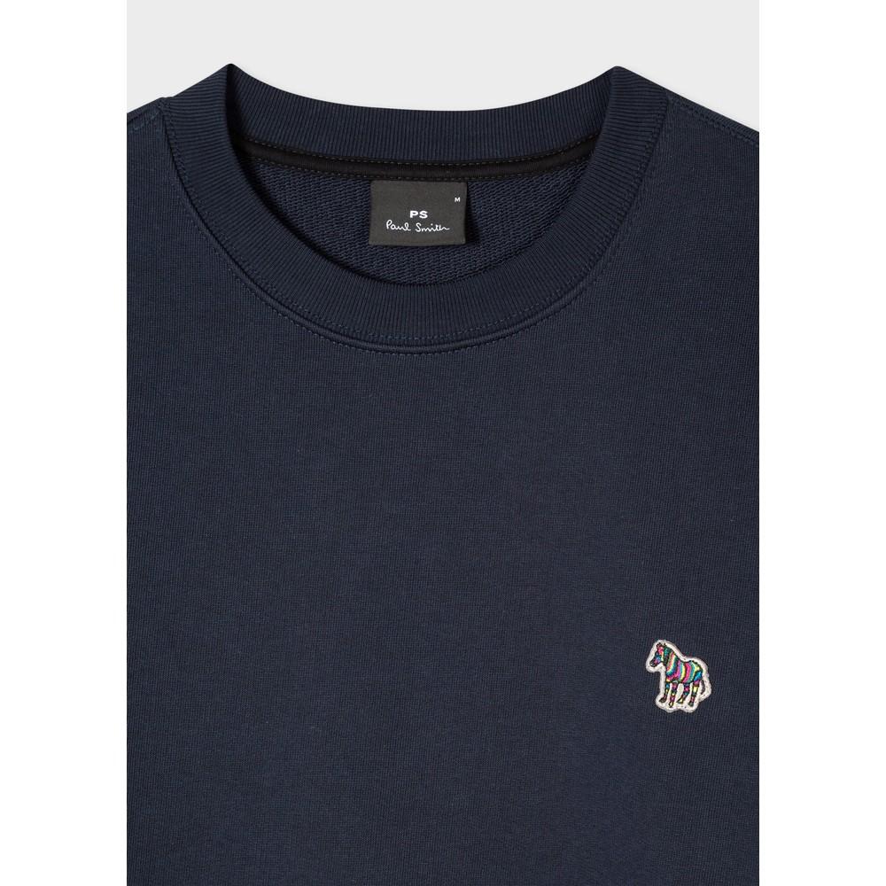 PS Paul Smith Organic-Cotton Zebra Logo Sweatshirt Dark Navy