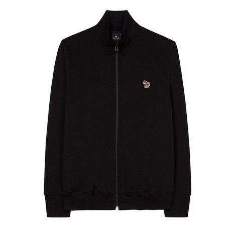 PS Paul Smith Organic Cotton Zebra Logo Zip Top