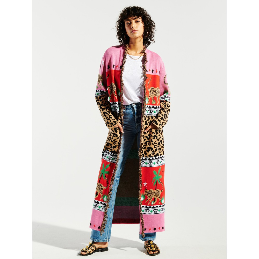 Hayley Menzies Leopardess Cotton Duster Pink