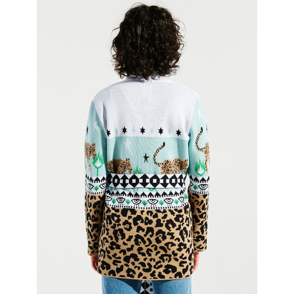Hayley Menzies Enchanted Leopard Cardigan Sky Blue